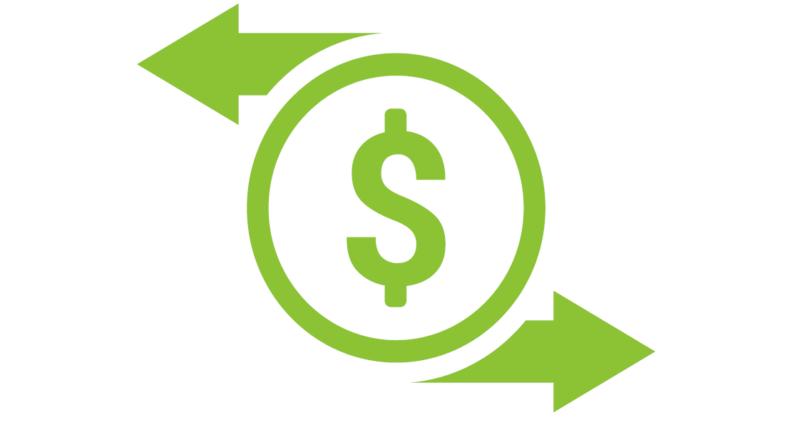 Icone Dollar Vert