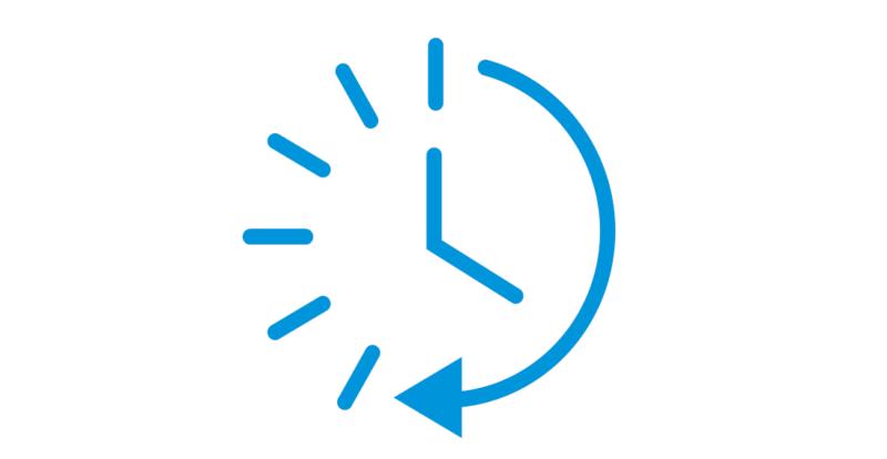 Icone Horloge bleue