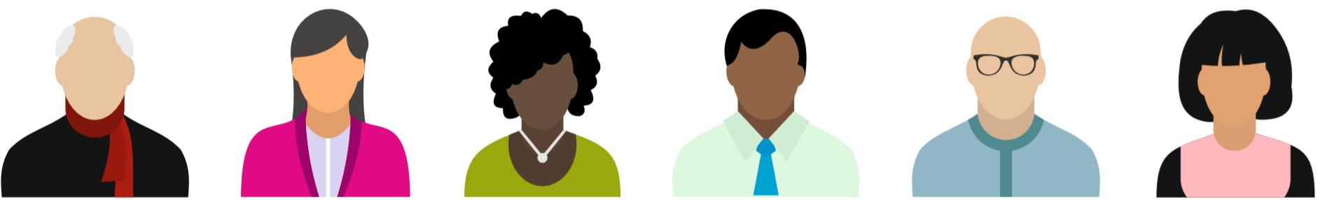Icones personnes de profils variés