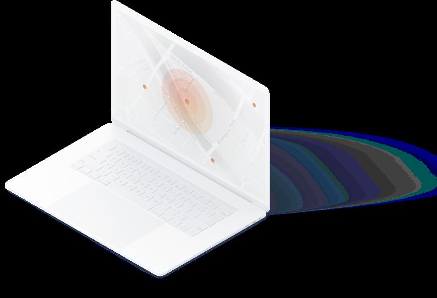 Macbook Pro avec image géolocalisation