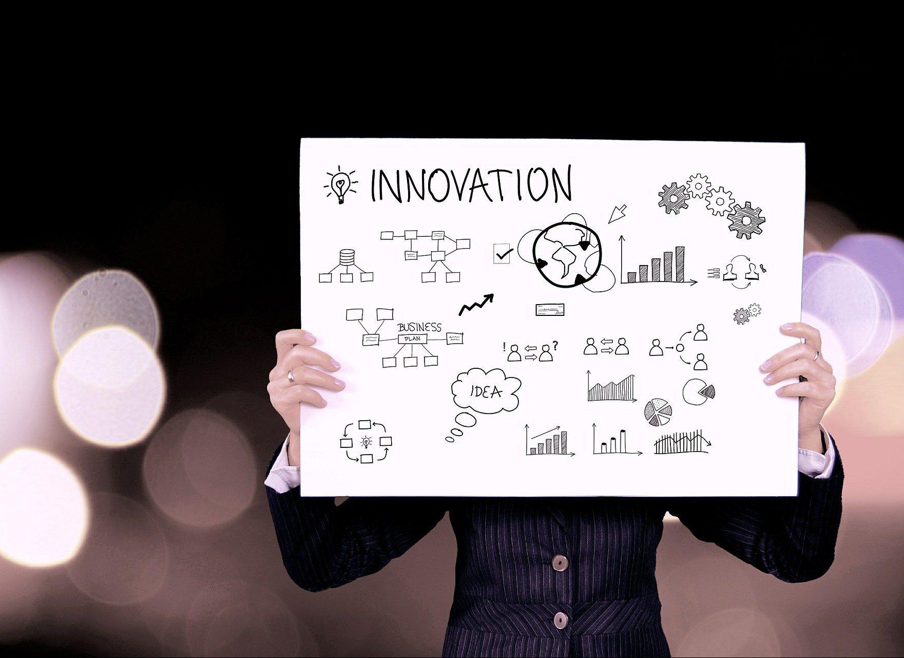 Soignez ses présentations - pancarte innovation